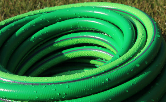 coil garden hose properly for good water pressure