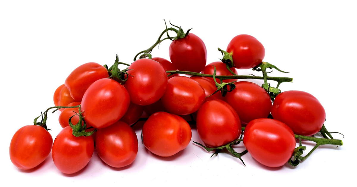 Juicy cherry tomatoes from container garden.