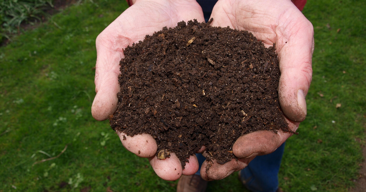 Soil combined with a compost