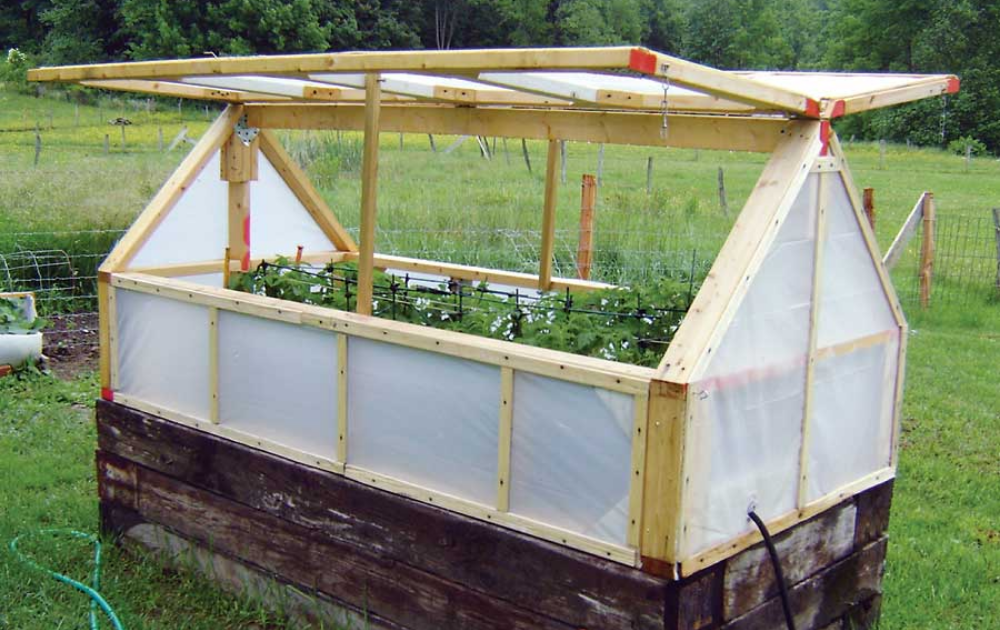 Raised bed with both side opening