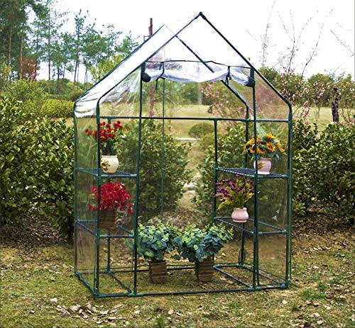 "Homewell  56""W x 29""D x 77""H Walk-in Greenhouse Review"