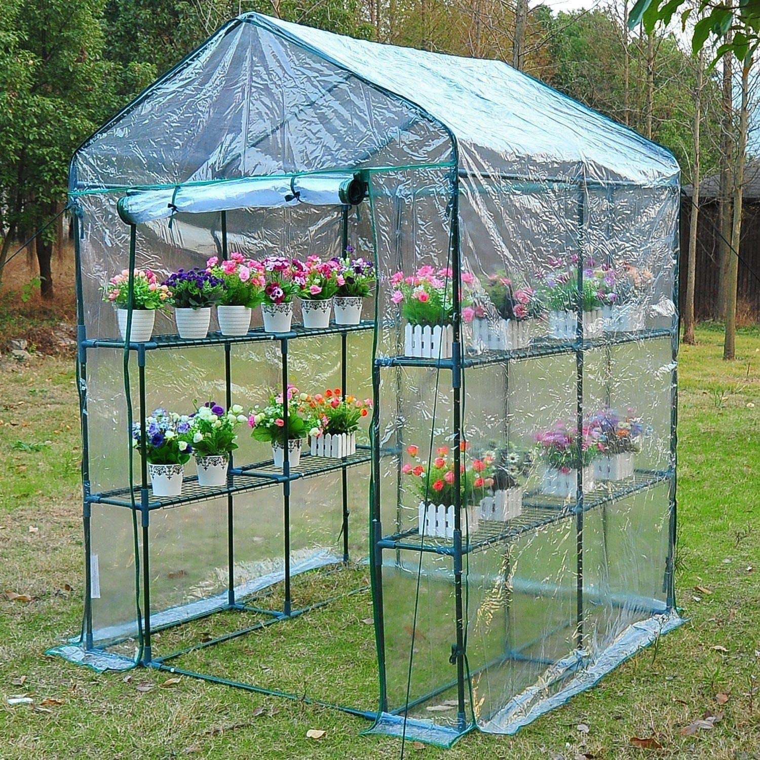 Outsunny 5' x 5' x 6' Walk-in Garden Greenhouse Review