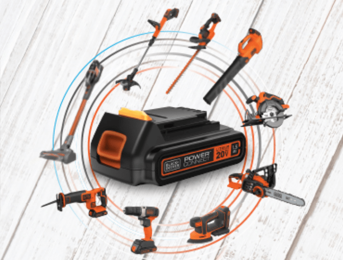 20V Max-lithium battery compatible power tools.