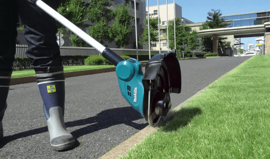 Makita's easy to convert trimmer to edger.