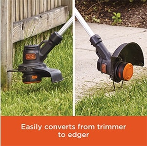 Black & Decker 20V trimmer and edger in one.