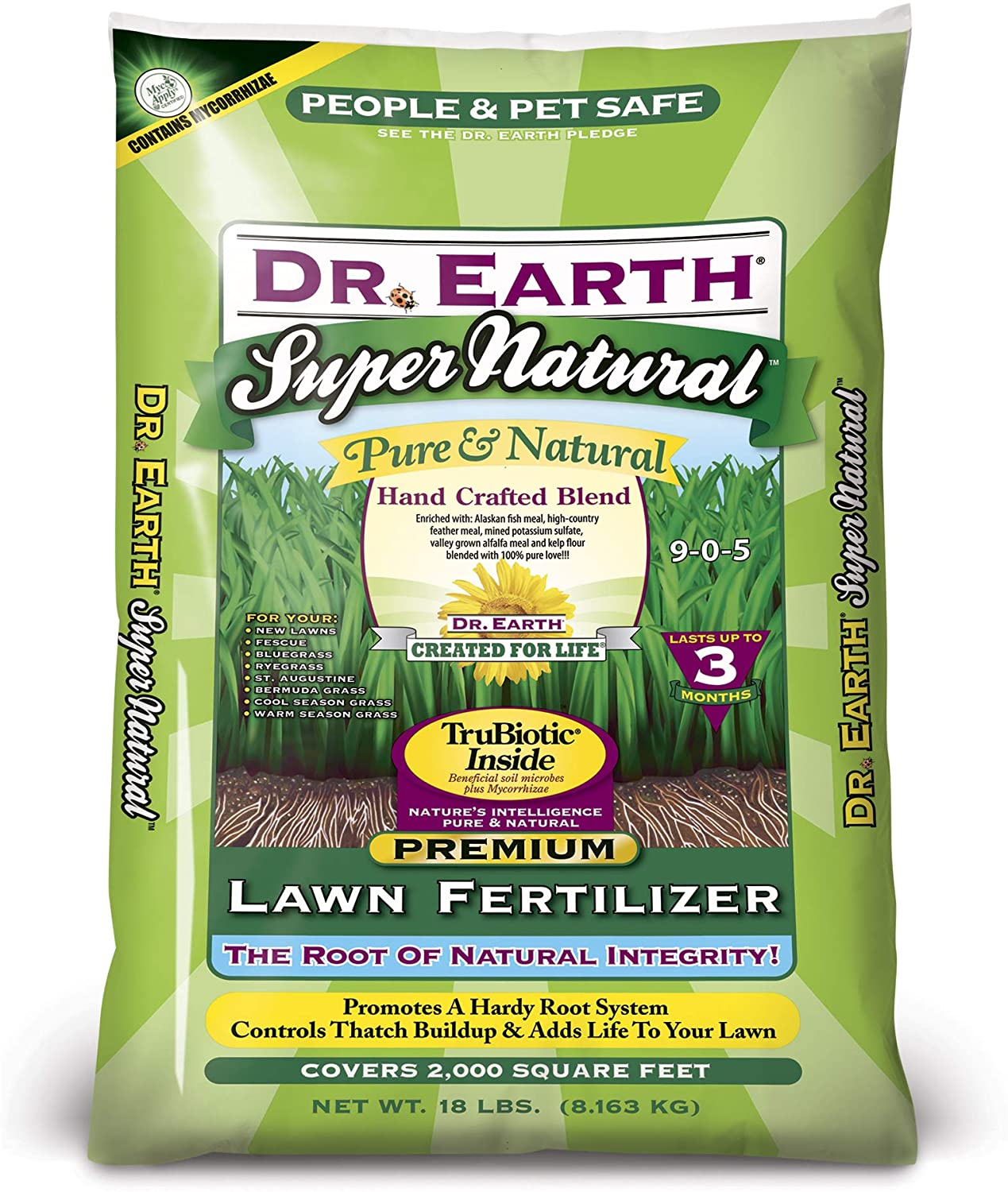 Dr. Earth Super Natural with Trubiotic Lawn Fertilizer