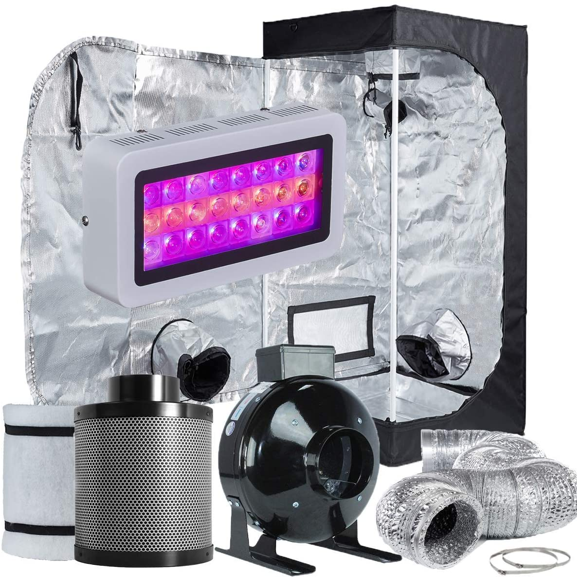 TopoLite Grow Tent Complete Hydroponic Growing Kit