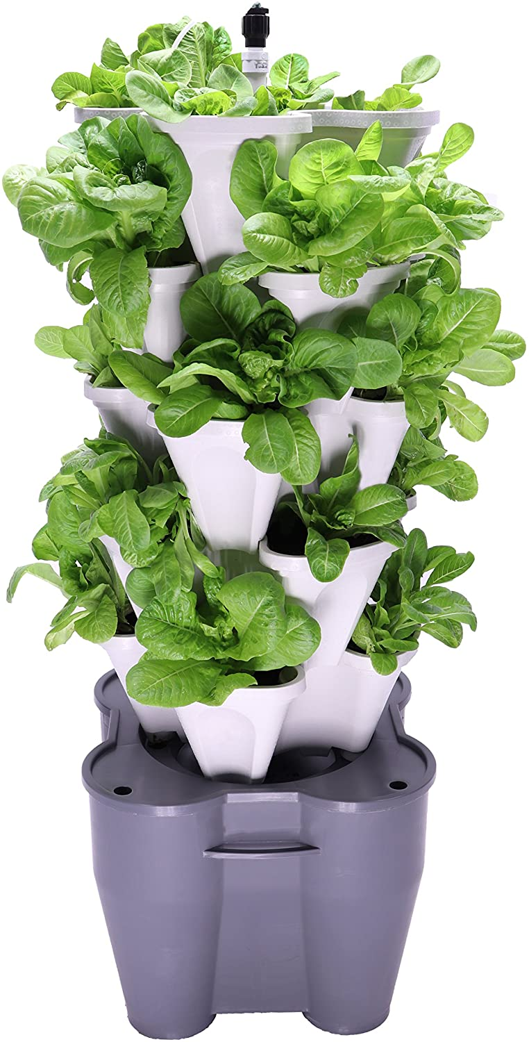 Mr. Stacky Soil Or Hydroponic Vertical Tower