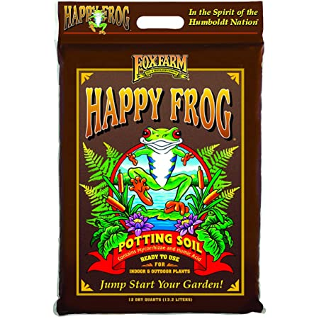 A clear image of the FoxFarm Happy Frog Potting Soil packaging.